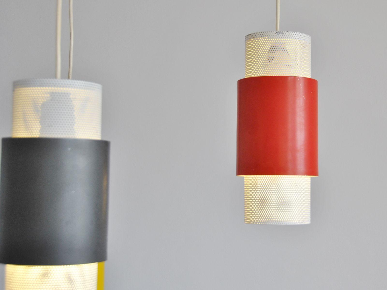 Metal Pendant Lights 1950s Set Of 3 For Sale At Pamono