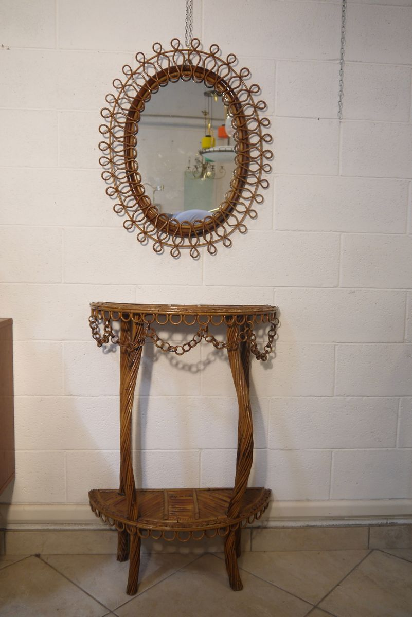 Italian console table and wall mirror 1960s for sale at for Wall table with mirror