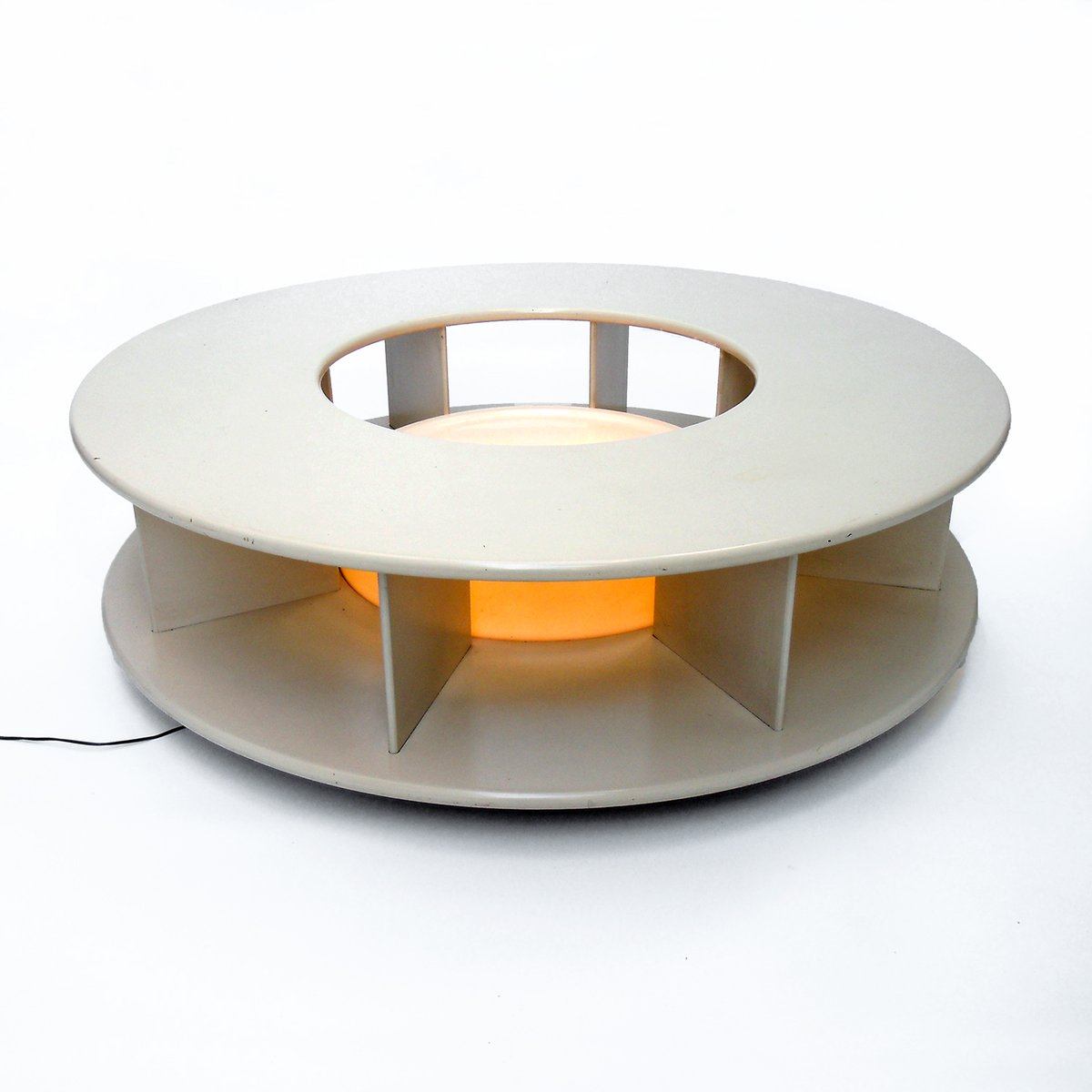 vintage rotating illuminated bazaar coffee table by