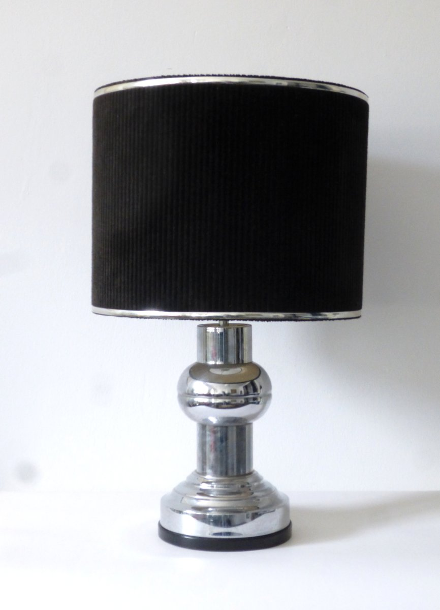 Art deco velvet chrome table lamp from zenith for sale for Art deco style lamp