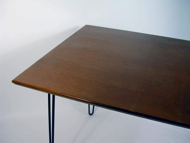 Industrie Schreibtisch aus Nussbaum Haarnadel Beine, 1950er bei ...