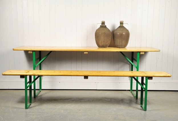 Vintage Beer Garden Table And Bench Set For Sale At Pamono