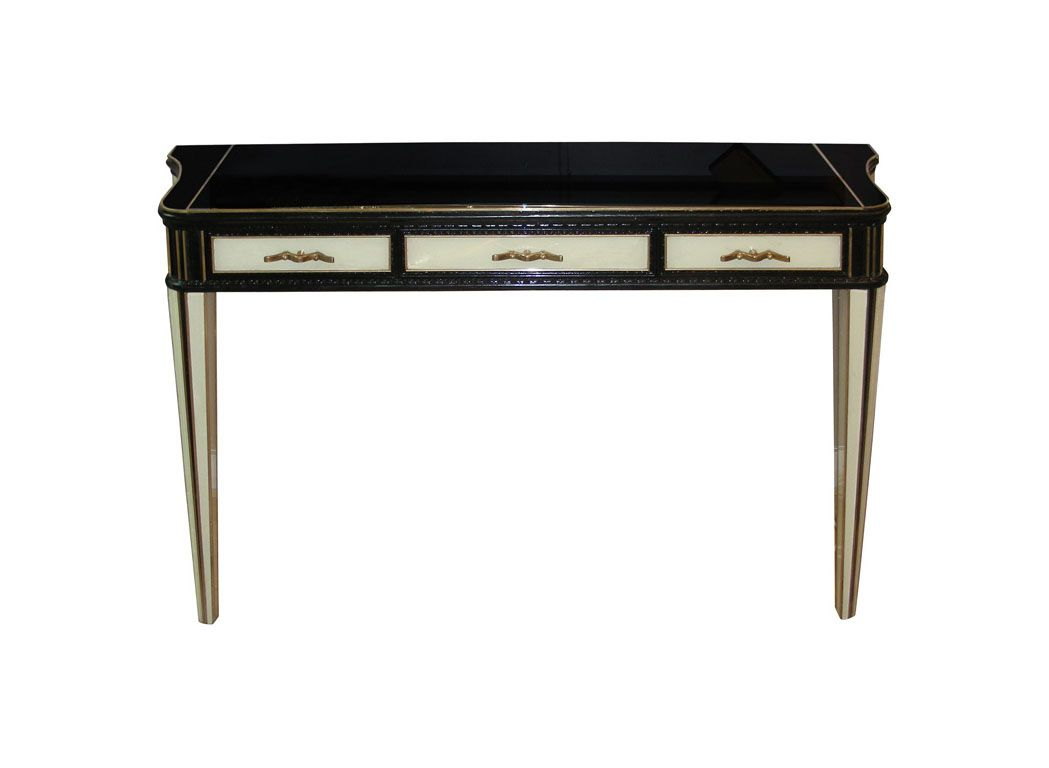 french art deco crystal console 1935 for sale at pamono. Black Bedroom Furniture Sets. Home Design Ideas