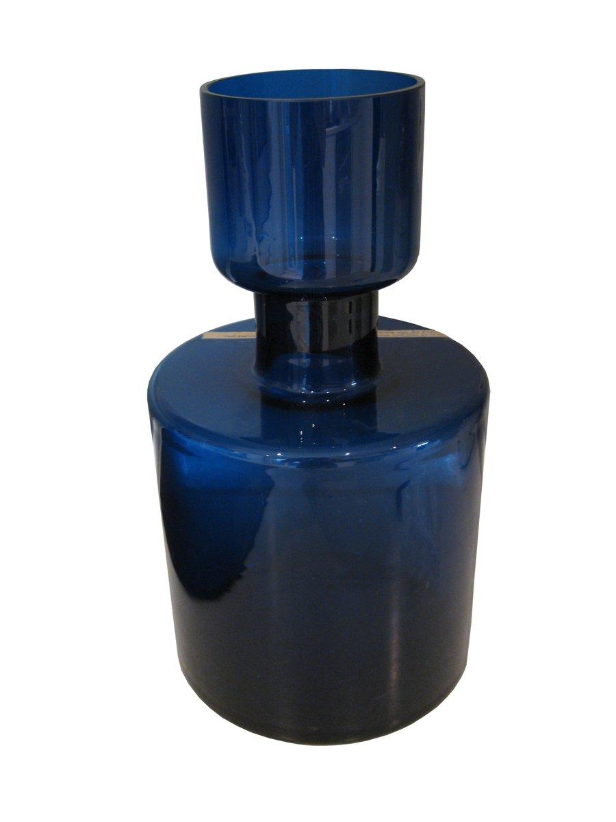 danish blue crystal vase by otto brauer for holmegaard. Black Bedroom Furniture Sets. Home Design Ideas