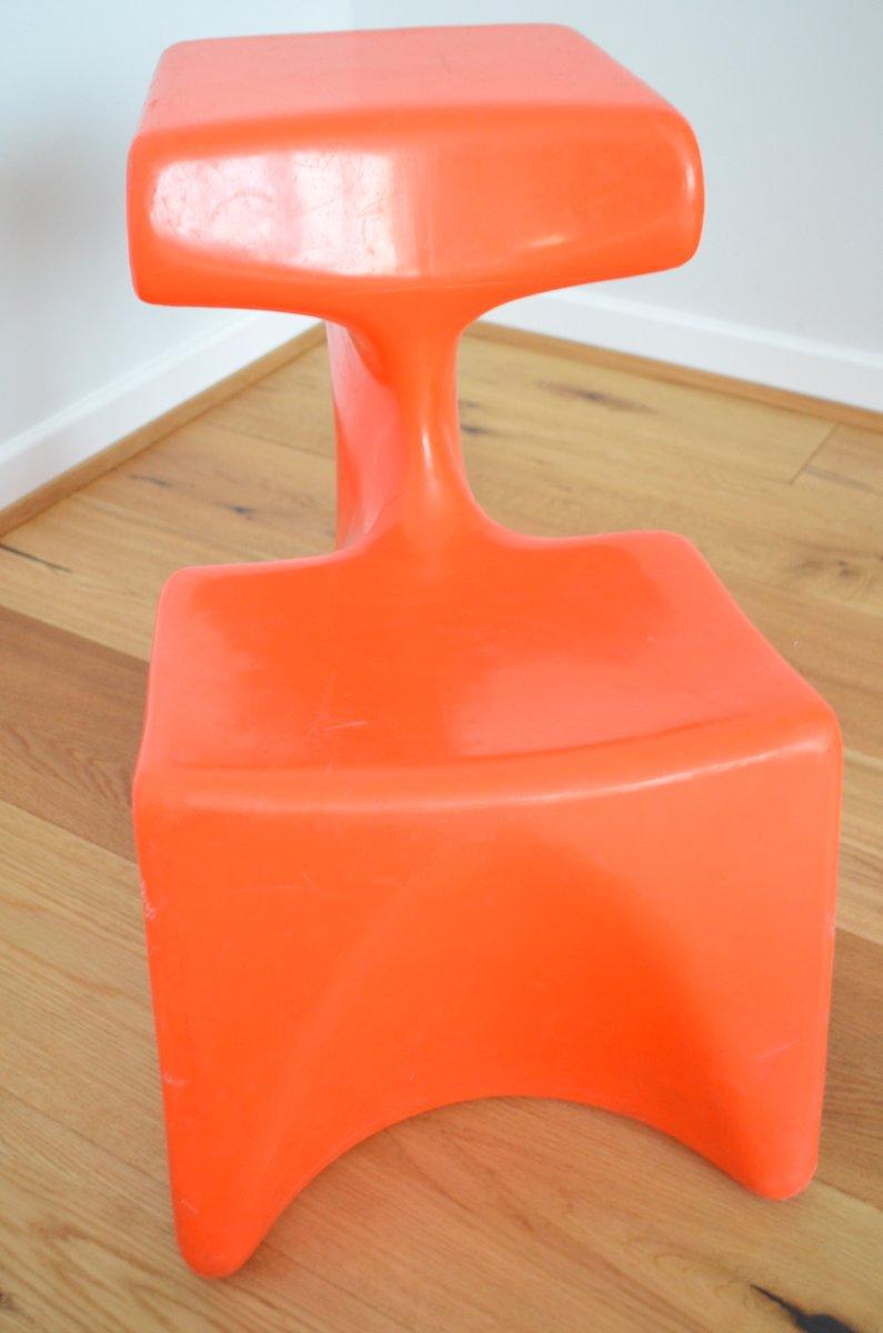 Orange zocker children 39 s chair by luigi colani for top for Orange kids chair