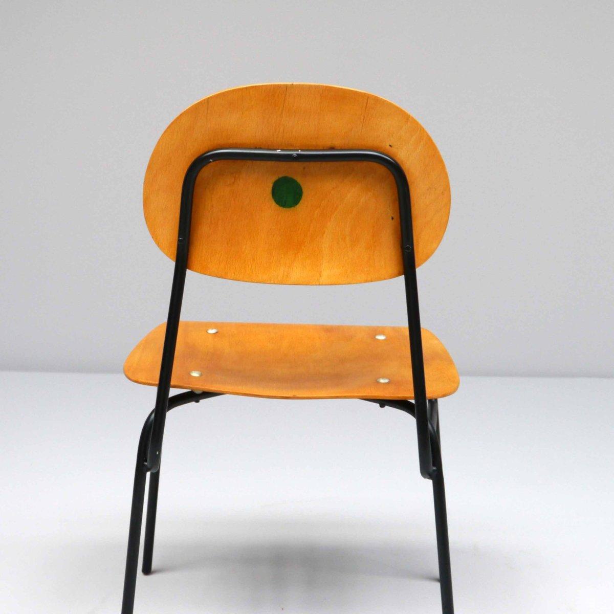 Vintage schulstuhl 1960er bei pamono kaufen for Schulstuhl holz