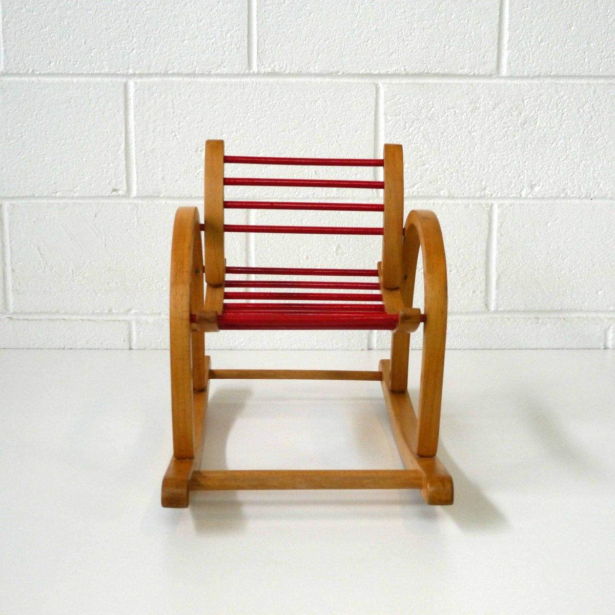 vintage kinder schaukelstuhl von baumann bei pamono kaufen. Black Bedroom Furniture Sets. Home Design Ideas