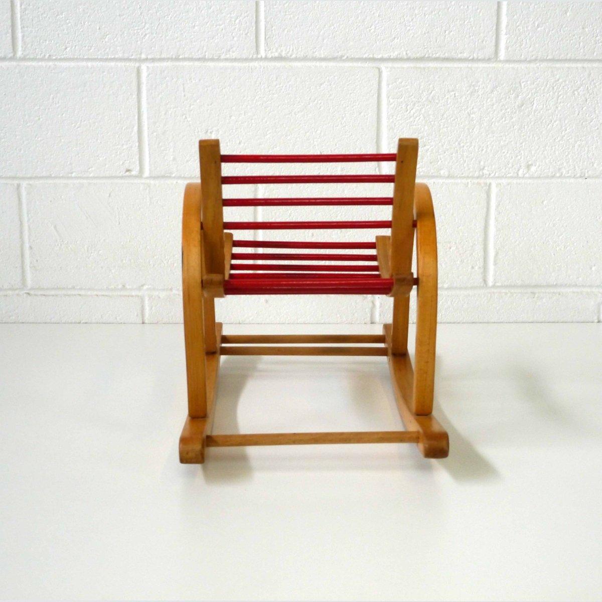rocking chair pour enfant vintage par baumann en vente sur. Black Bedroom Furniture Sets. Home Design Ideas