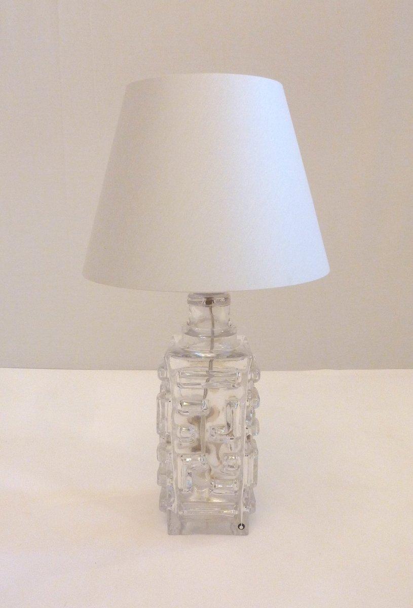 schwedische glas tischlampe von pukeberg bei pamono kaufen. Black Bedroom Furniture Sets. Home Design Ideas