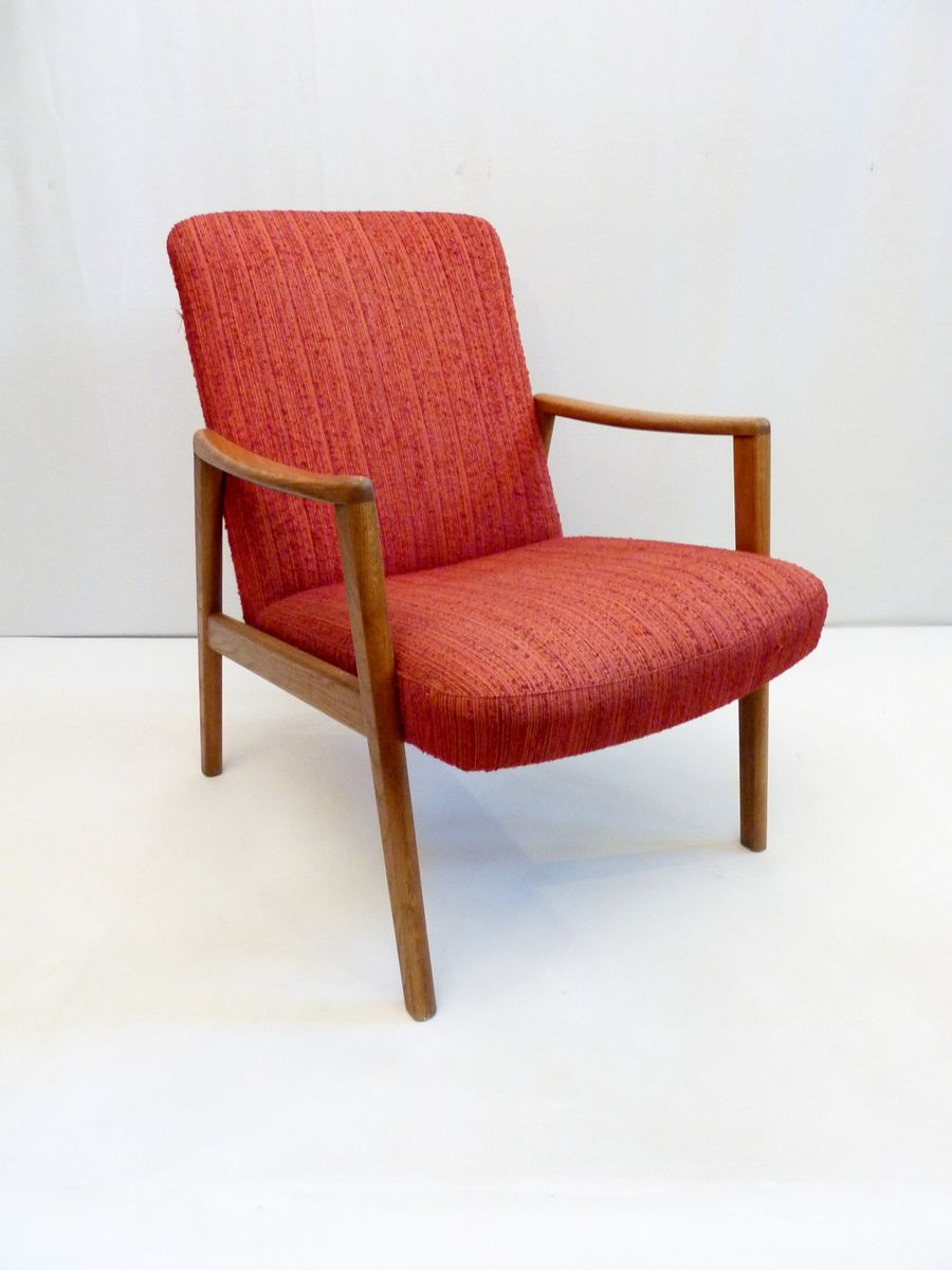 Vintage swedish oak wool armchairs set of 2 for sale at for 2 armchairs for sale