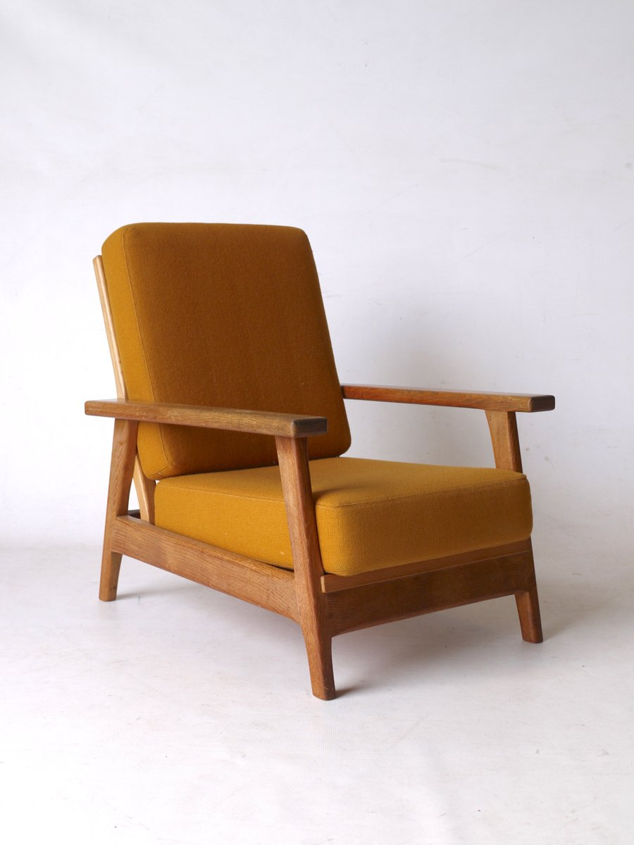 Vintage Dutch Low Oak Armchair from EMS Overschie for sale ...