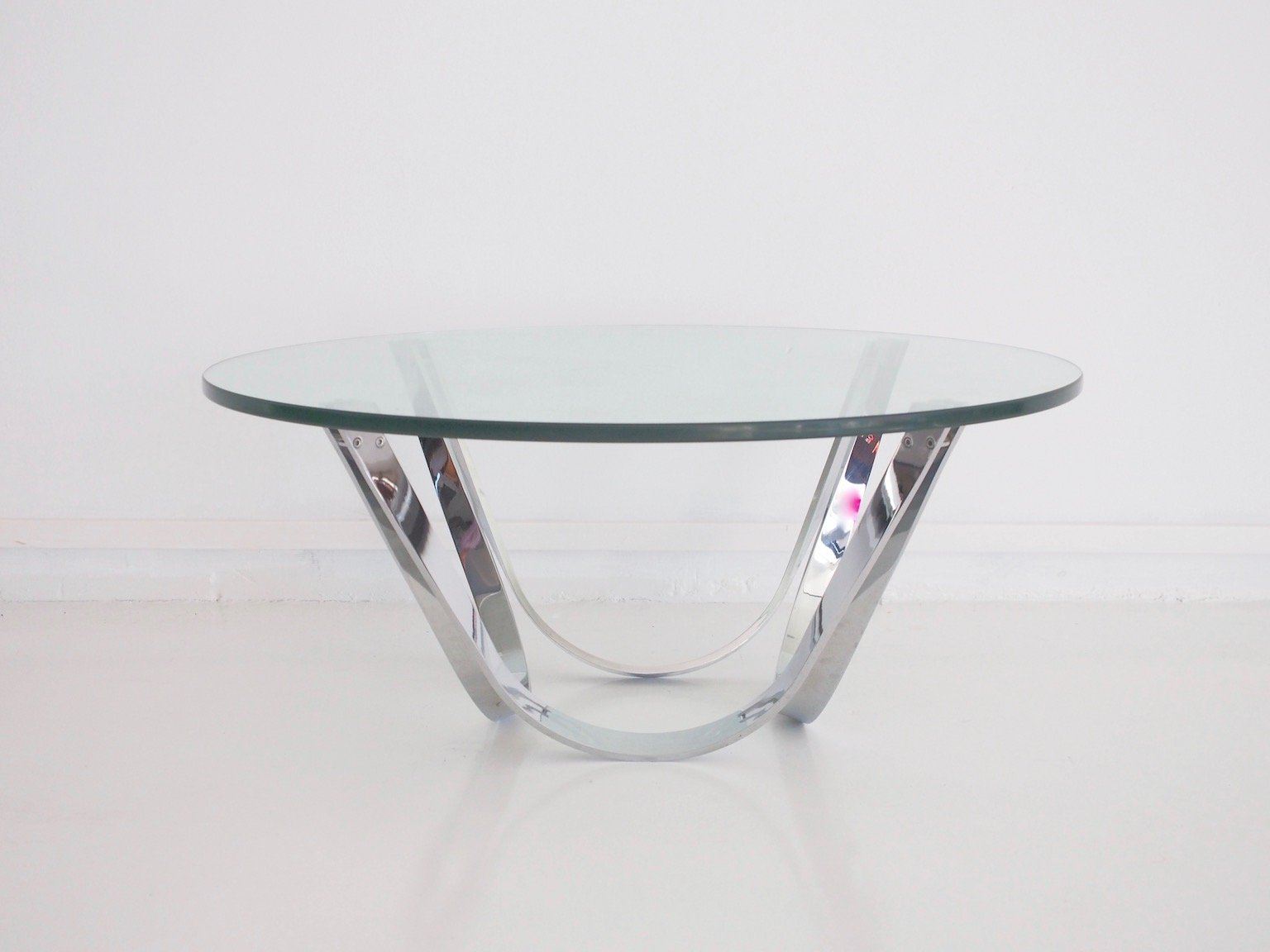 vintage chrome and glass coffee table by roger sprunger for dunbar  - vintage chrome and glass coffee table by roger sprunger for dunbarfurniture  previous