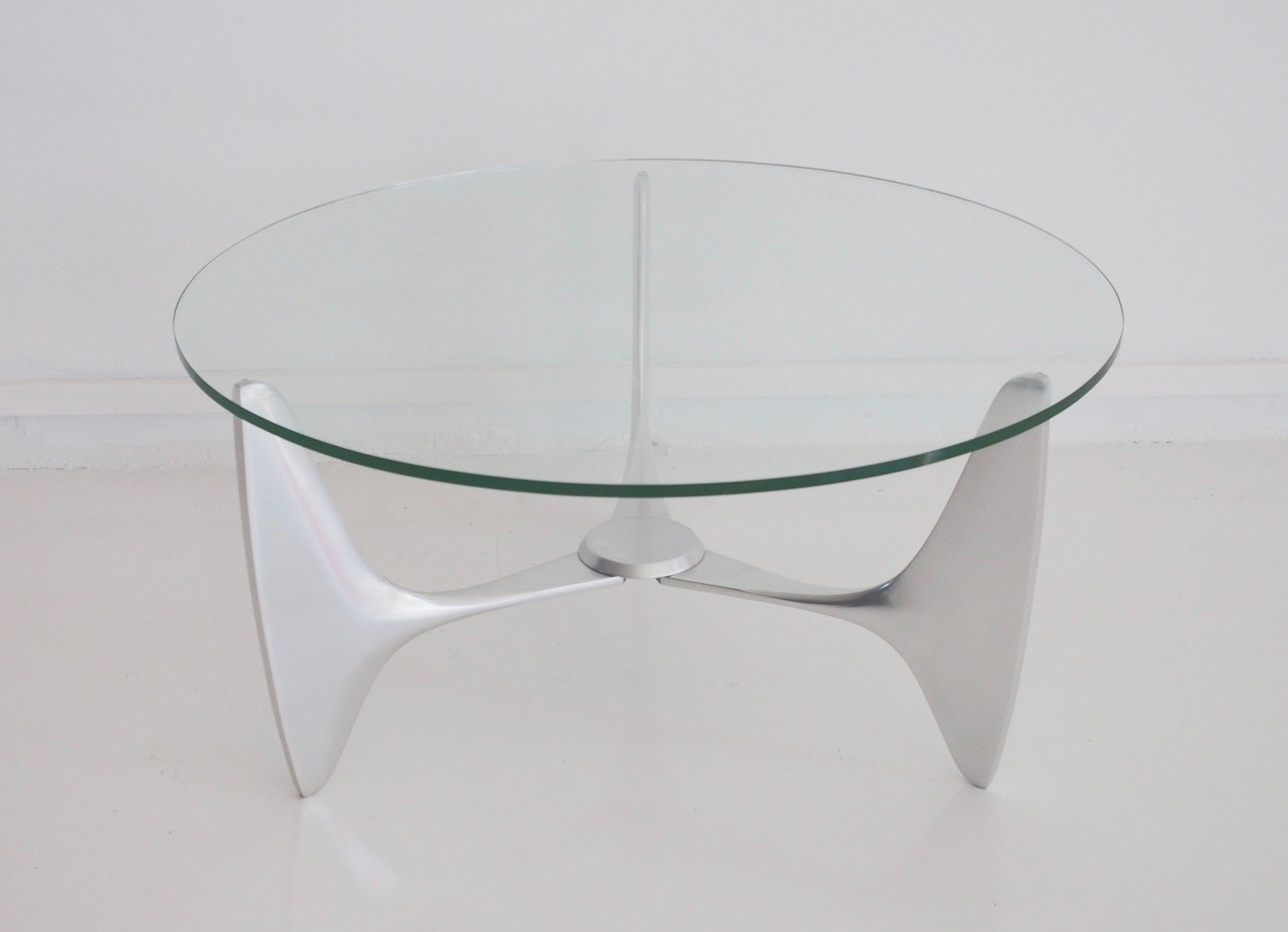 Vintage Coffee Table With Tripod Aluminum Frame For Sale At Pamono