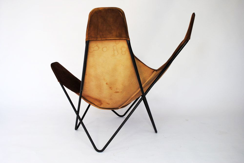 butterfly chair by jorge ferrari hardoy for knoll 1960s. Black Bedroom Furniture Sets. Home Design Ideas