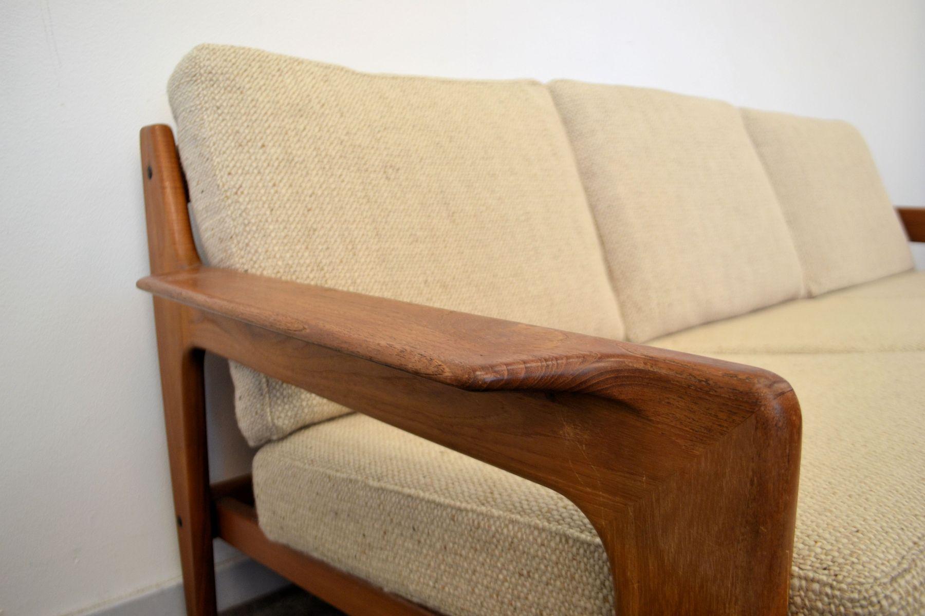Vintage Danish Teak Frame Sofa by Arne Wahl Iversen for Komfort