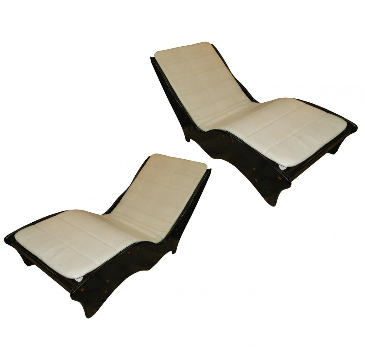 vintage chaise longues 1970s set of 2 for sale at pamono. Black Bedroom Furniture Sets. Home Design Ideas
