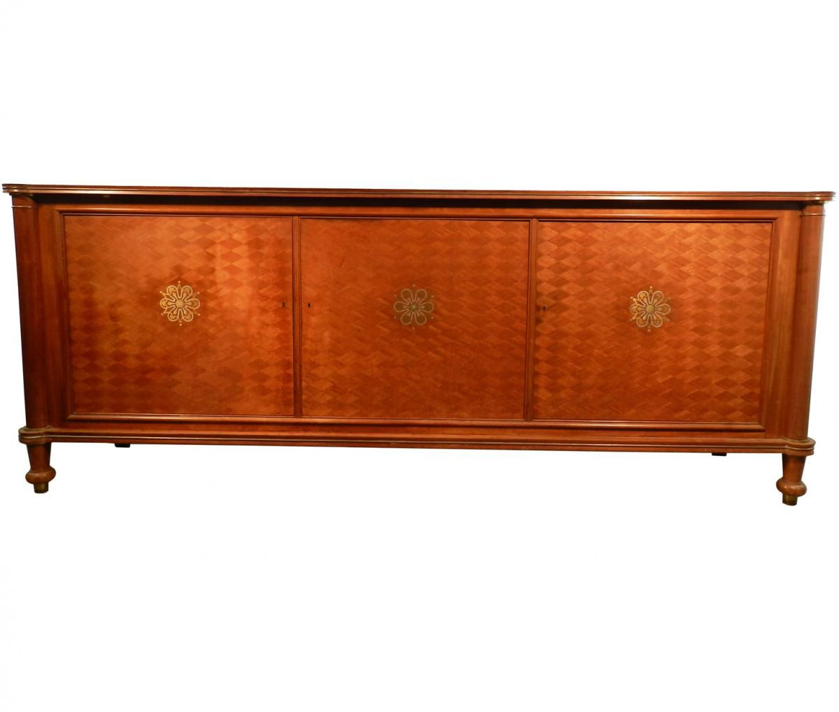 vintage sideboard by jules leleu for sale at pamono. Black Bedroom Furniture Sets. Home Design Ideas