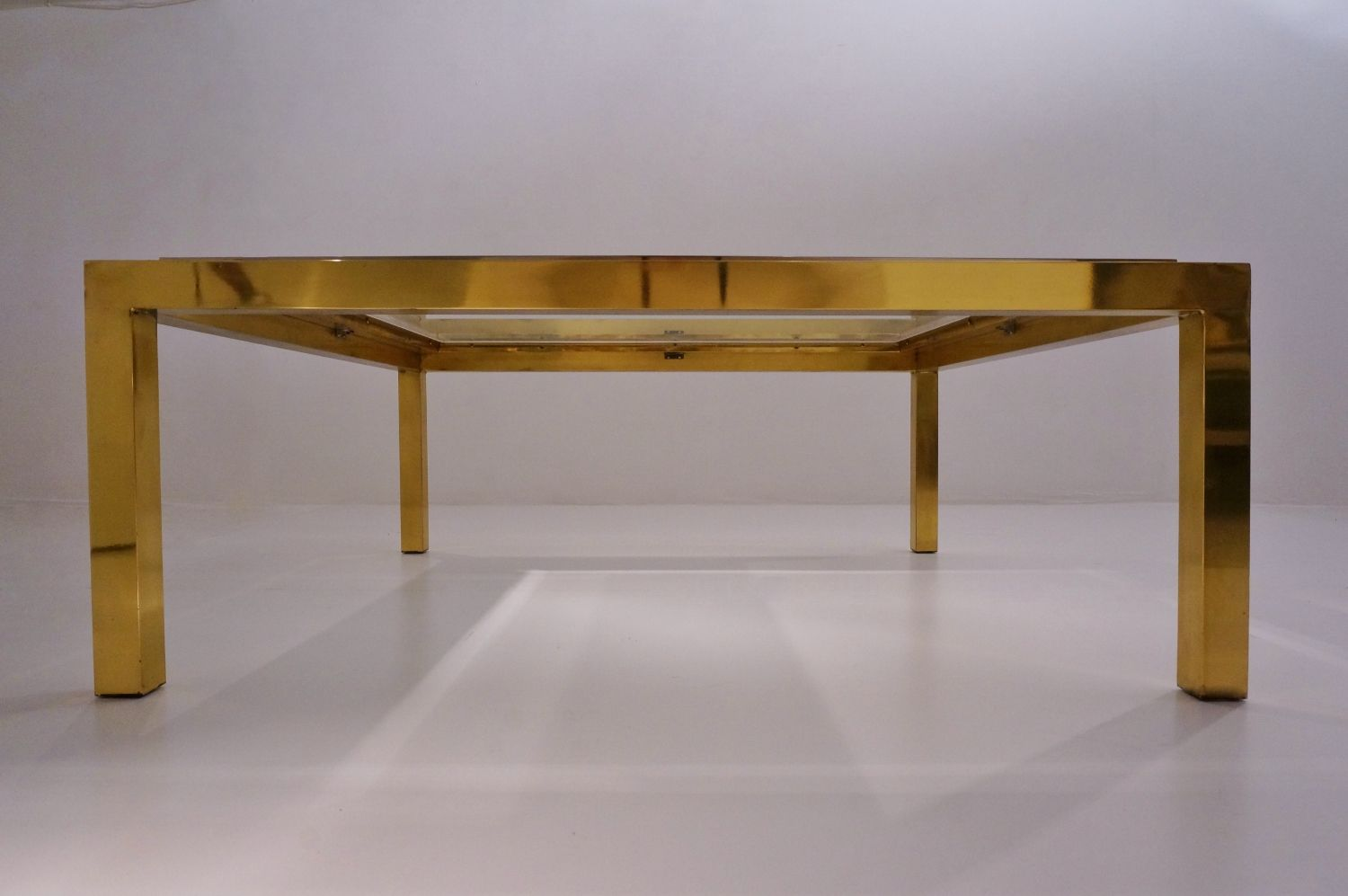 Brass Chrome Coffee Table By Willy Rizzo For Sale At Pamono