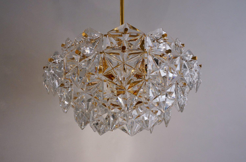 kristall und vergoldeter metall kronleuchter von kinkeldey design team bei pamono kaufen. Black Bedroom Furniture Sets. Home Design Ideas