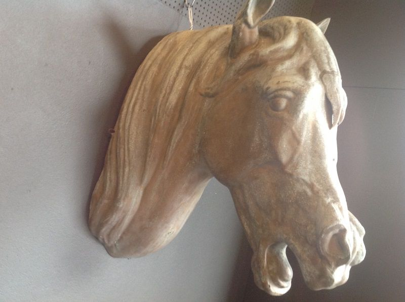 Vintage zinc horse head 1950s for sale at pamono for Vintage horseshoes for sale