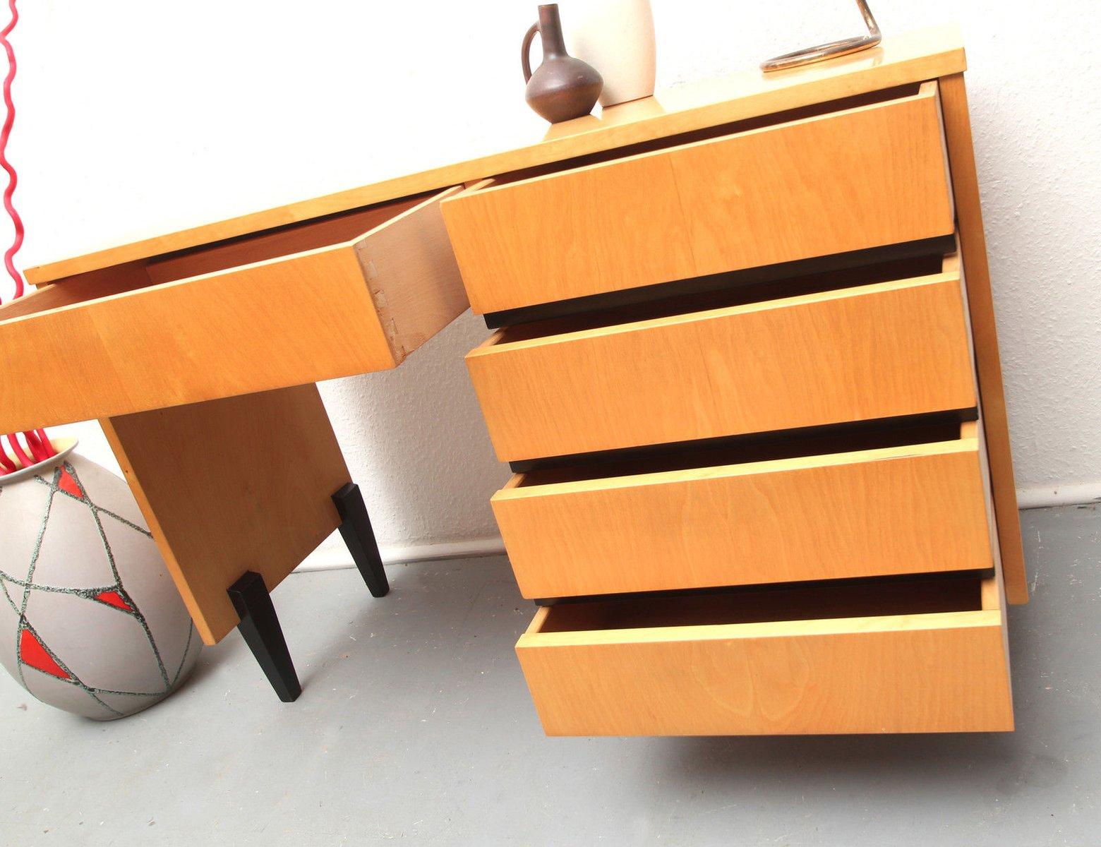 mid century schreibtisch aus ahorn 1950er bei pamono kaufen. Black Bedroom Furniture Sets. Home Design Ideas