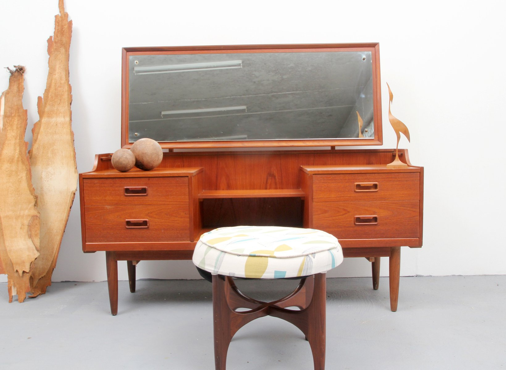 Table Dressing Wood 1950 Scarved ~ Mid century teak dressing table s for sale at pamono