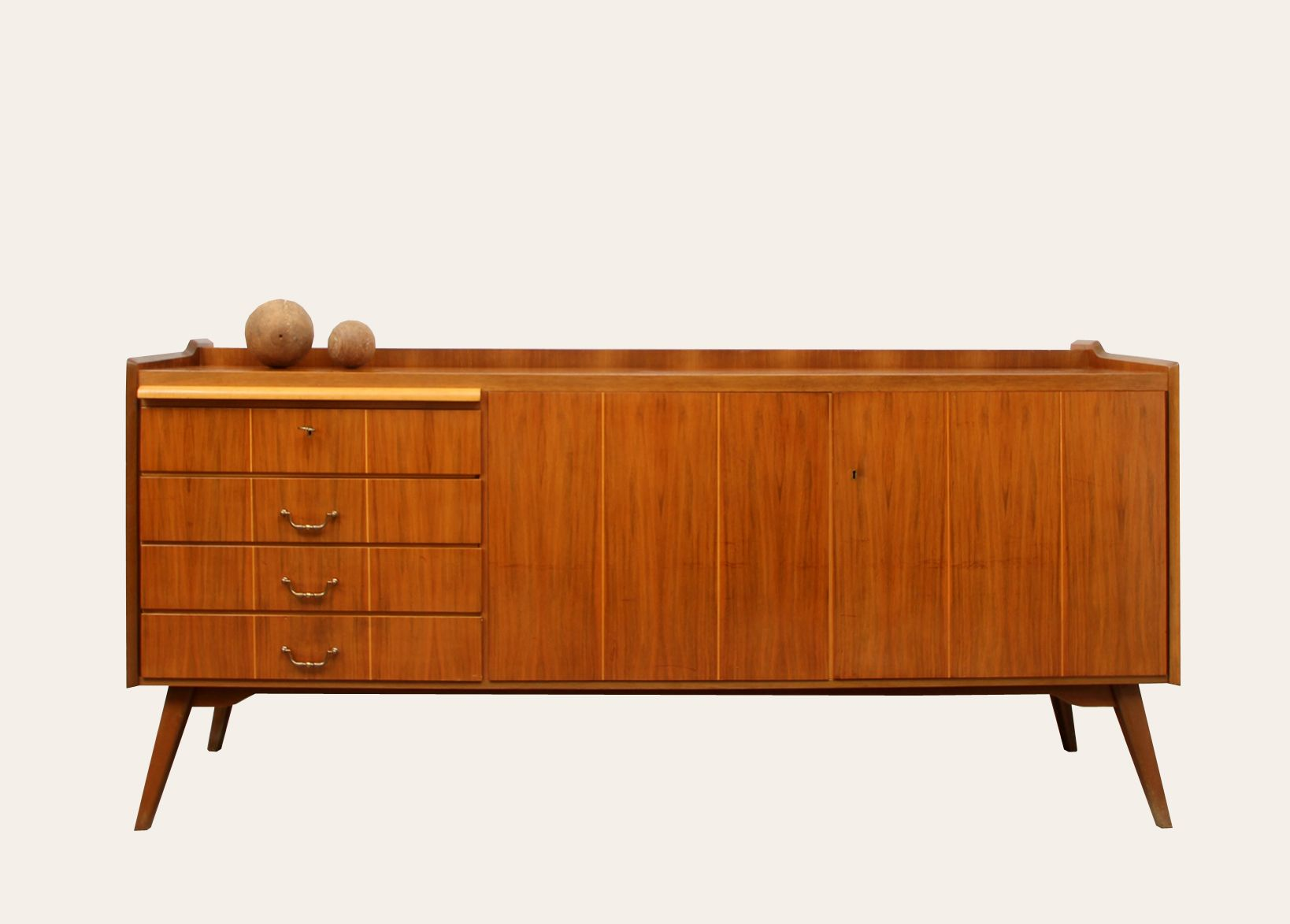 Mid century walnut sideboard 1950s for sale at pamono for 1950 s credenza