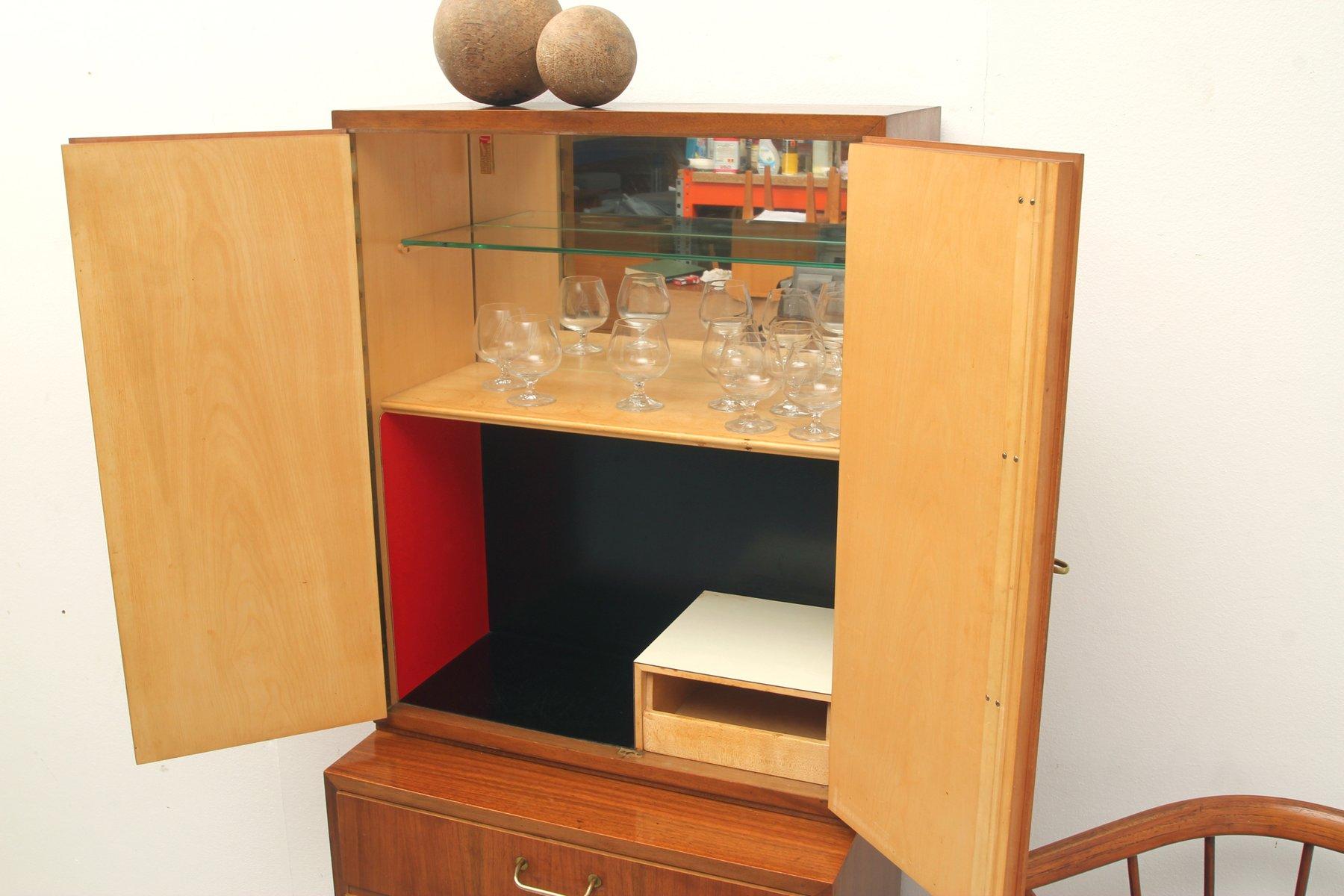 Mid Century Walnut Sideboard From Erwin Behr Wendlingen