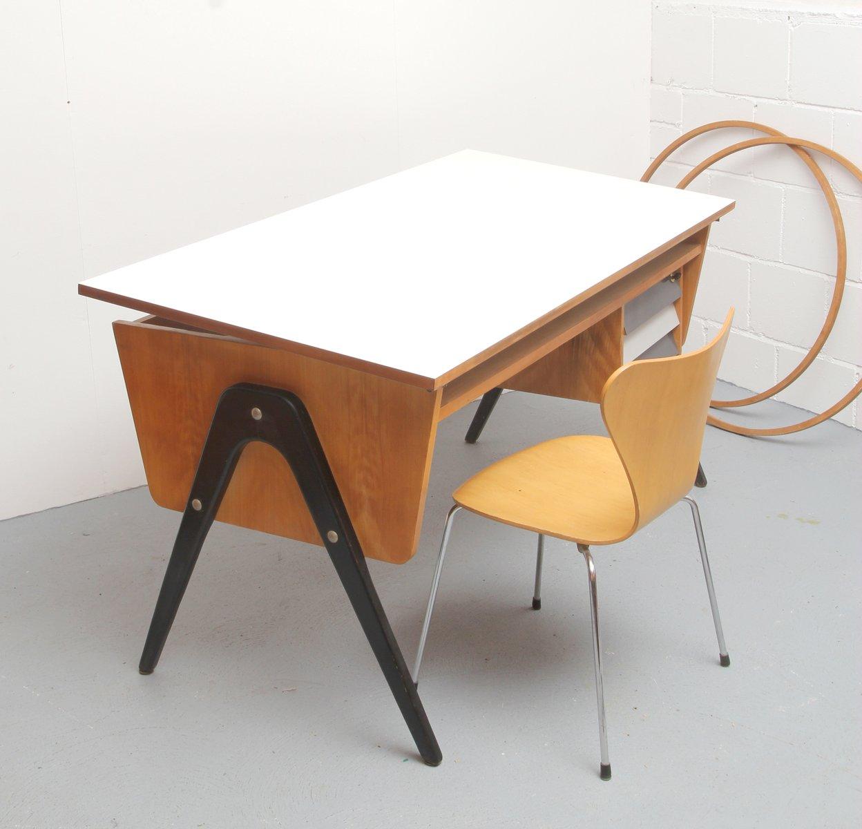 50er architekten schreibtisch wie magg bei pamono kaufen. Black Bedroom Furniture Sets. Home Design Ideas