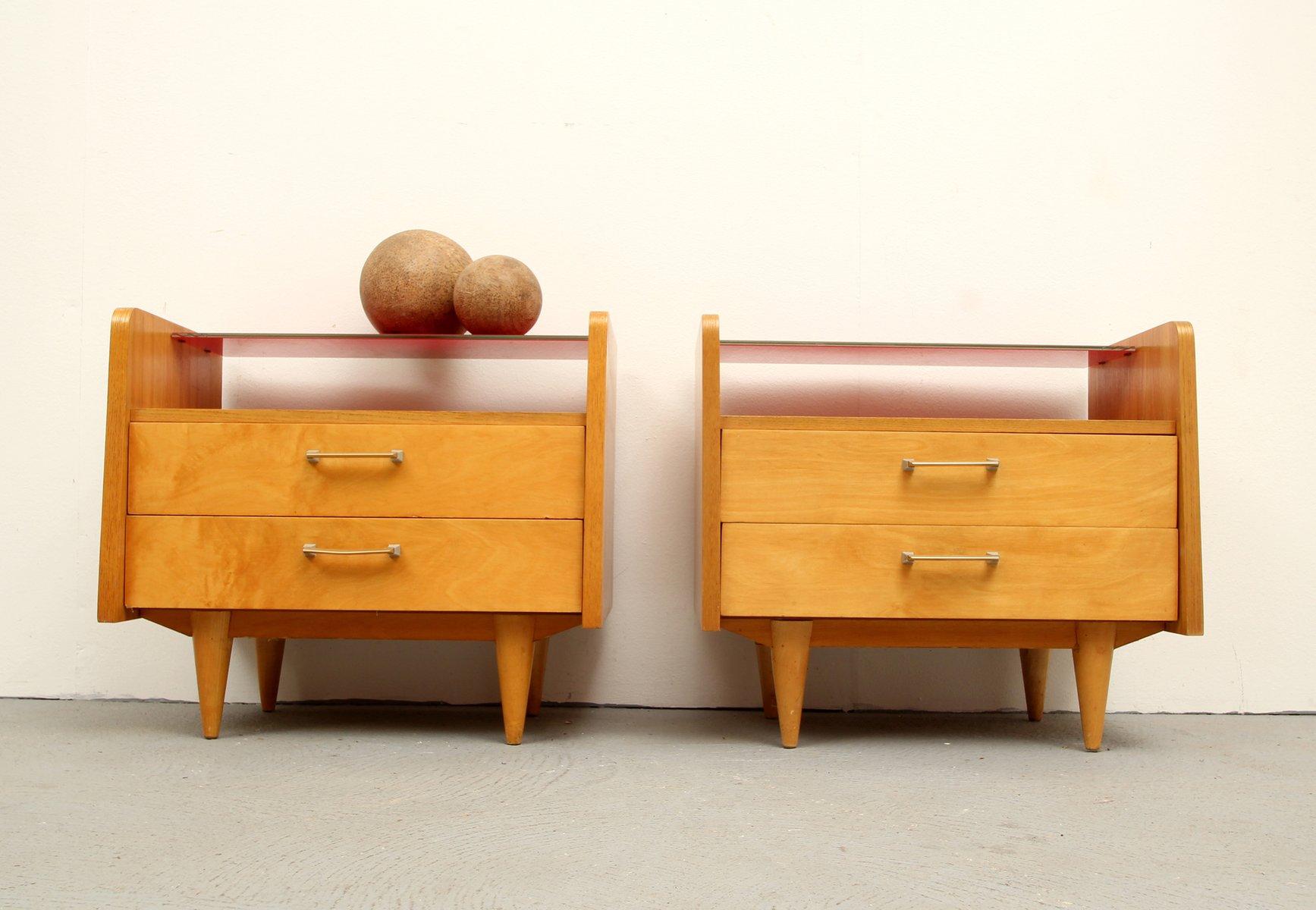 mid century duo xs kommode 1950er 2er set. Black Bedroom Furniture Sets. Home Design Ideas