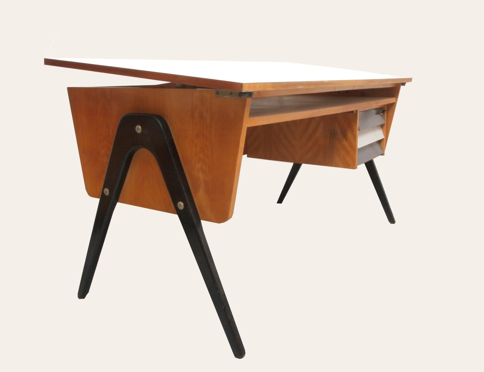 mid century architekten schreibtisch 1950er bei pamono kaufen. Black Bedroom Furniture Sets. Home Design Ideas