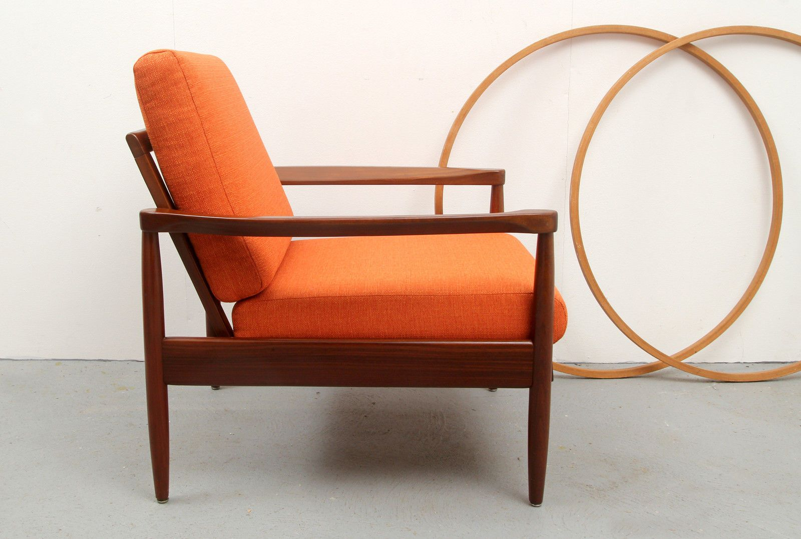 Scandinavian Style Teak Armchair, 1960s for sale at Pamono