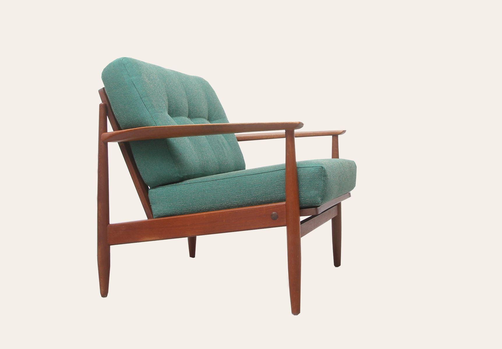 Mid Century Scandinavian Style Teak Armchair 1960s For