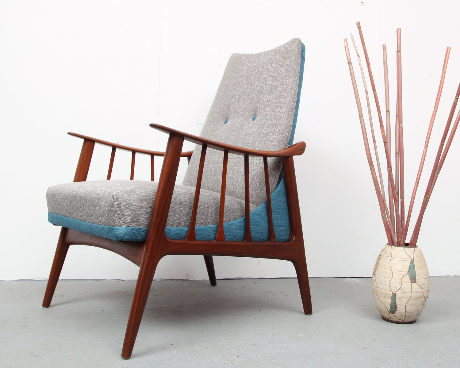 Mid Century Teak Lounge Chair, 1950s for sale at Pamono