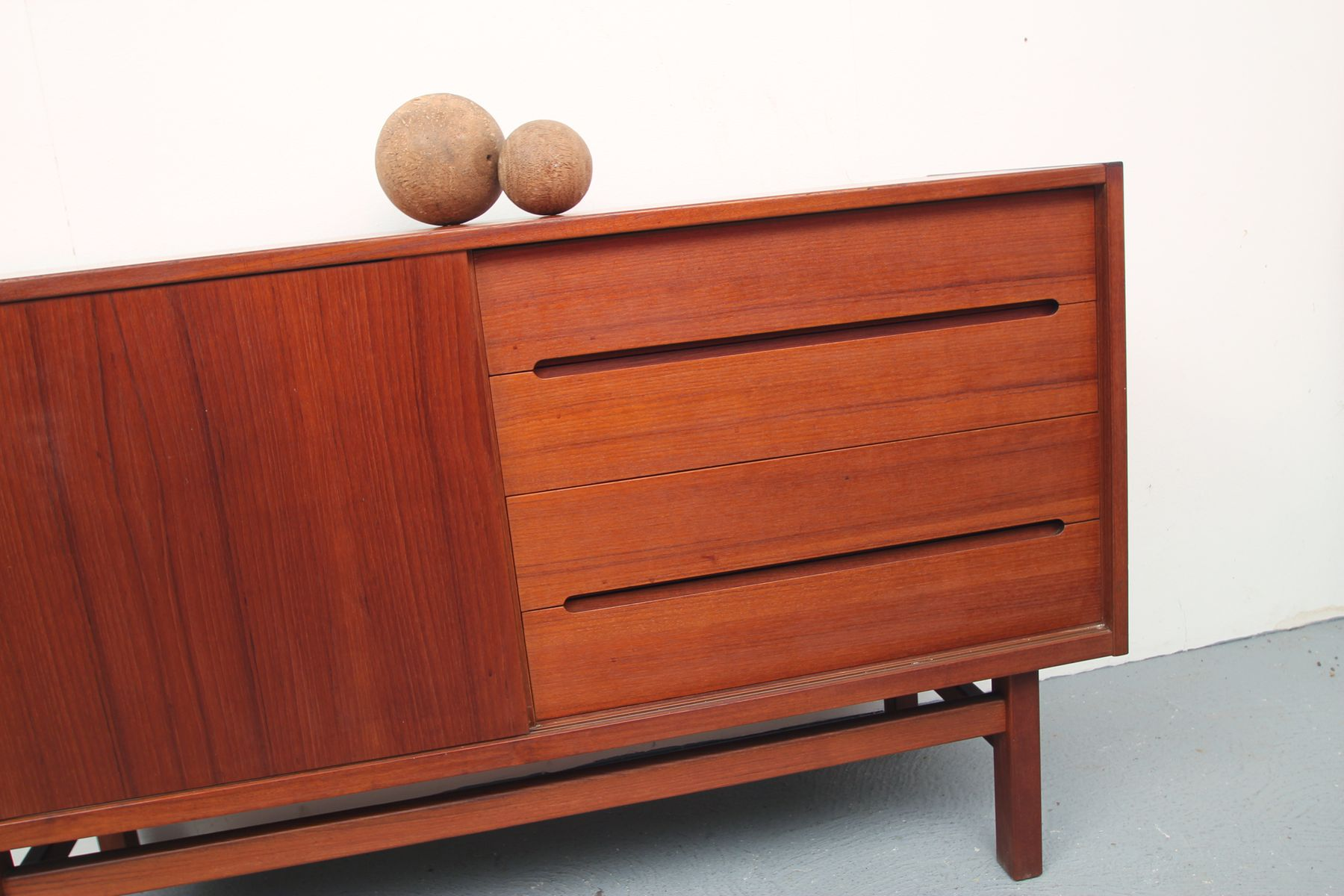 mid century teak sideboard from troeds 1960s for sale at pamono. Black Bedroom Furniture Sets. Home Design Ideas