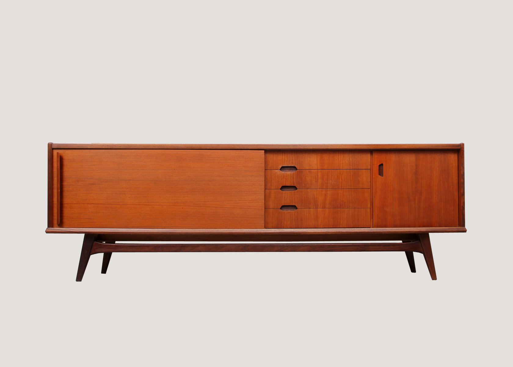 mid century teak sideboard 1960s for sale at pamono. Black Bedroom Furniture Sets. Home Design Ideas
