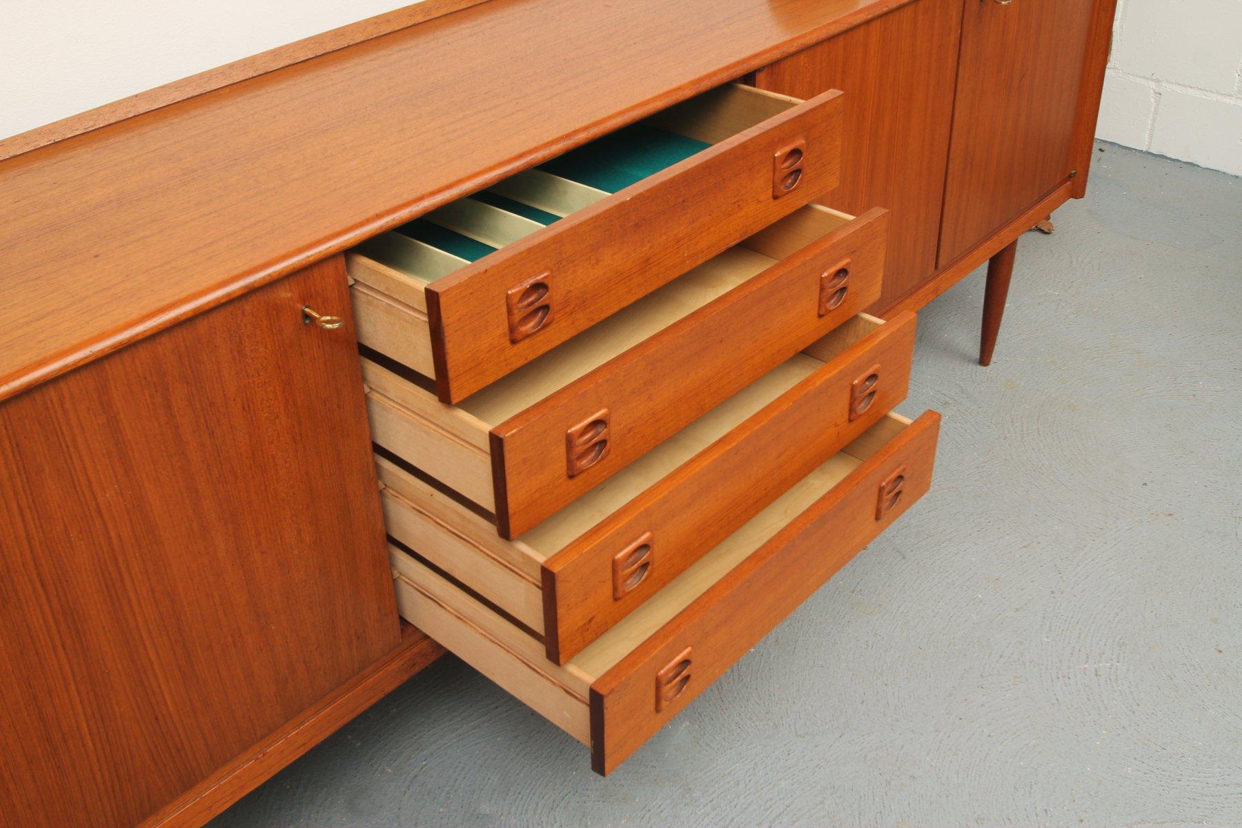 mid century teak sideboard 1960s for sale at pamono. Black Bedroom Furniture Sets. Home Design Ideas