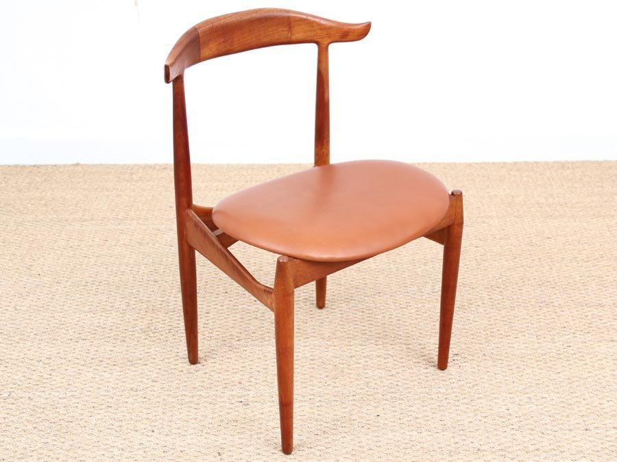 Mid Century Cow Horn Chair By Knud Faerch