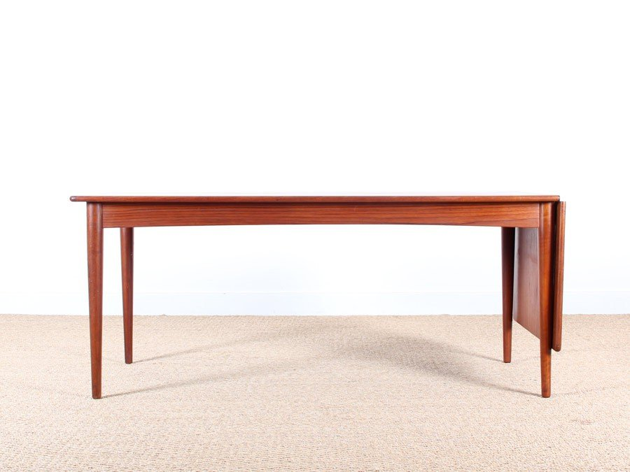 Teak extendable danish coffee table for sale at pamono - Telescopic coffee table ...