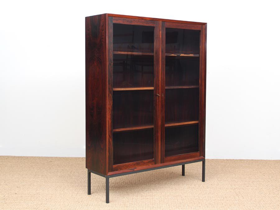 mid century danish book vitrine 1960s for sale at pamono. Black Bedroom Furniture Sets. Home Design Ideas