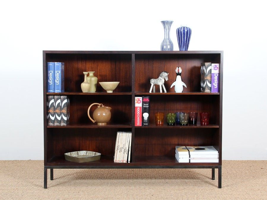 mid century danish open bookcase for sale at pamono. Black Bedroom Furniture Sets. Home Design Ideas