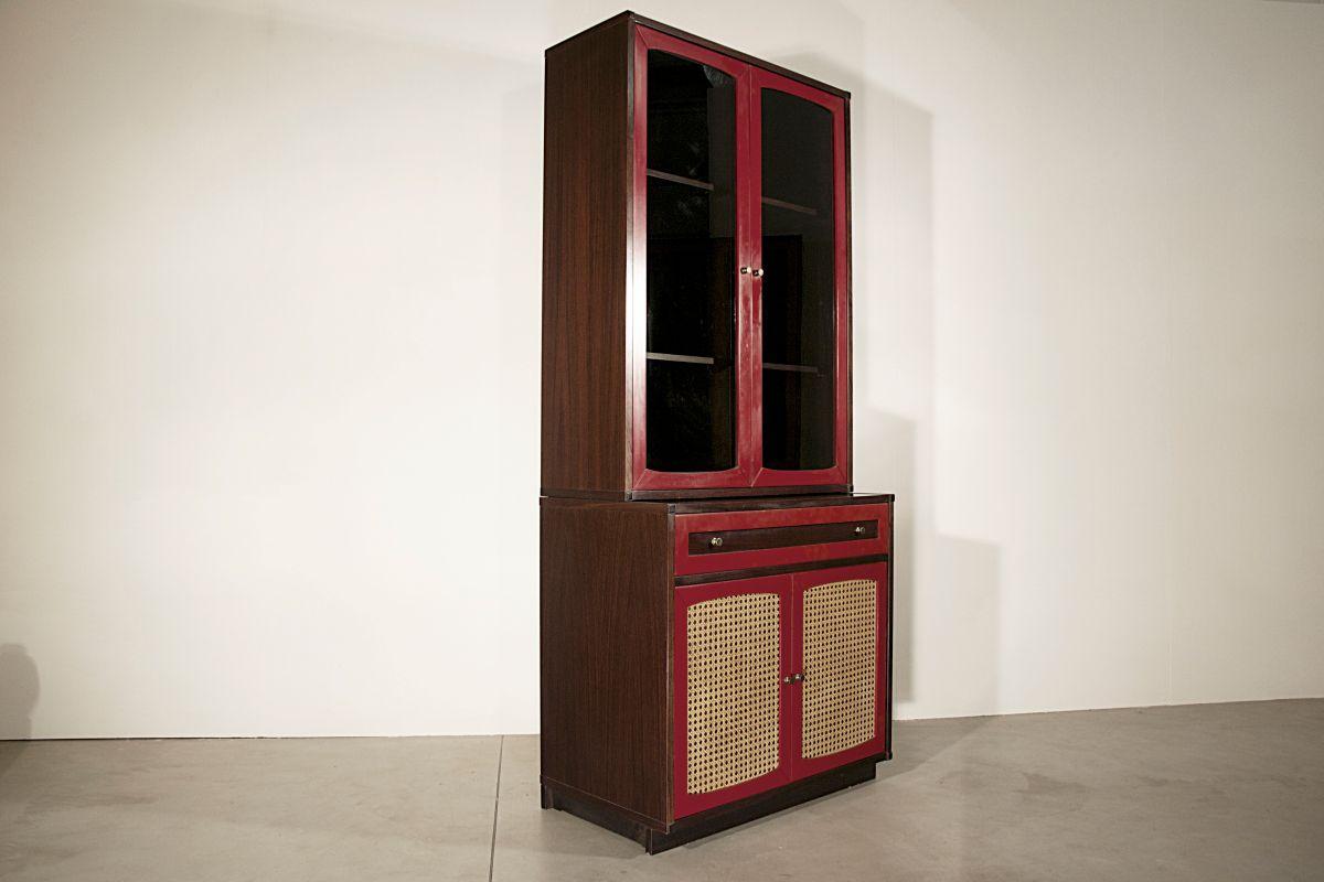 roter italienischer vintage schrank bei pamono kaufen. Black Bedroom Furniture Sets. Home Design Ideas