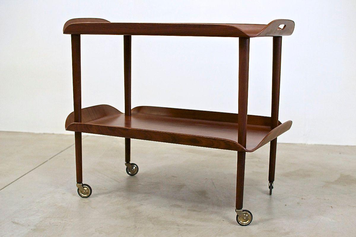 mid century bugholz serviertisch italien bei pamono kaufen. Black Bedroom Furniture Sets. Home Design Ideas