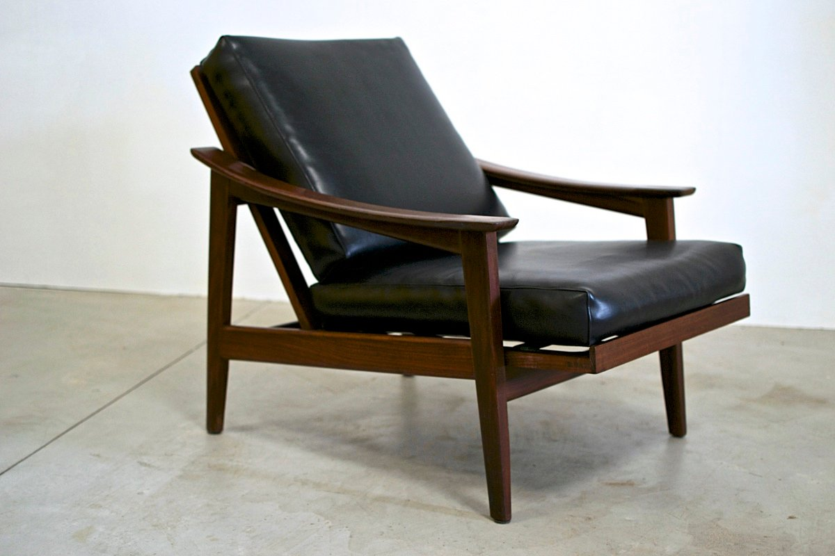 Scandinavian Swedish Reclining Armchair for sale at Pamono