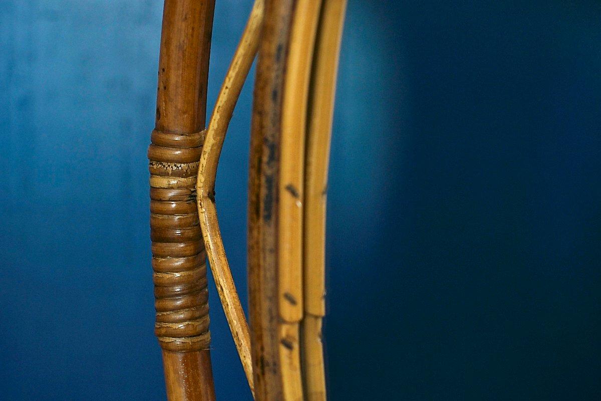 italienischer vintage spiegel aus bambus rattan bei pamono kaufen. Black Bedroom Furniture Sets. Home Design Ideas