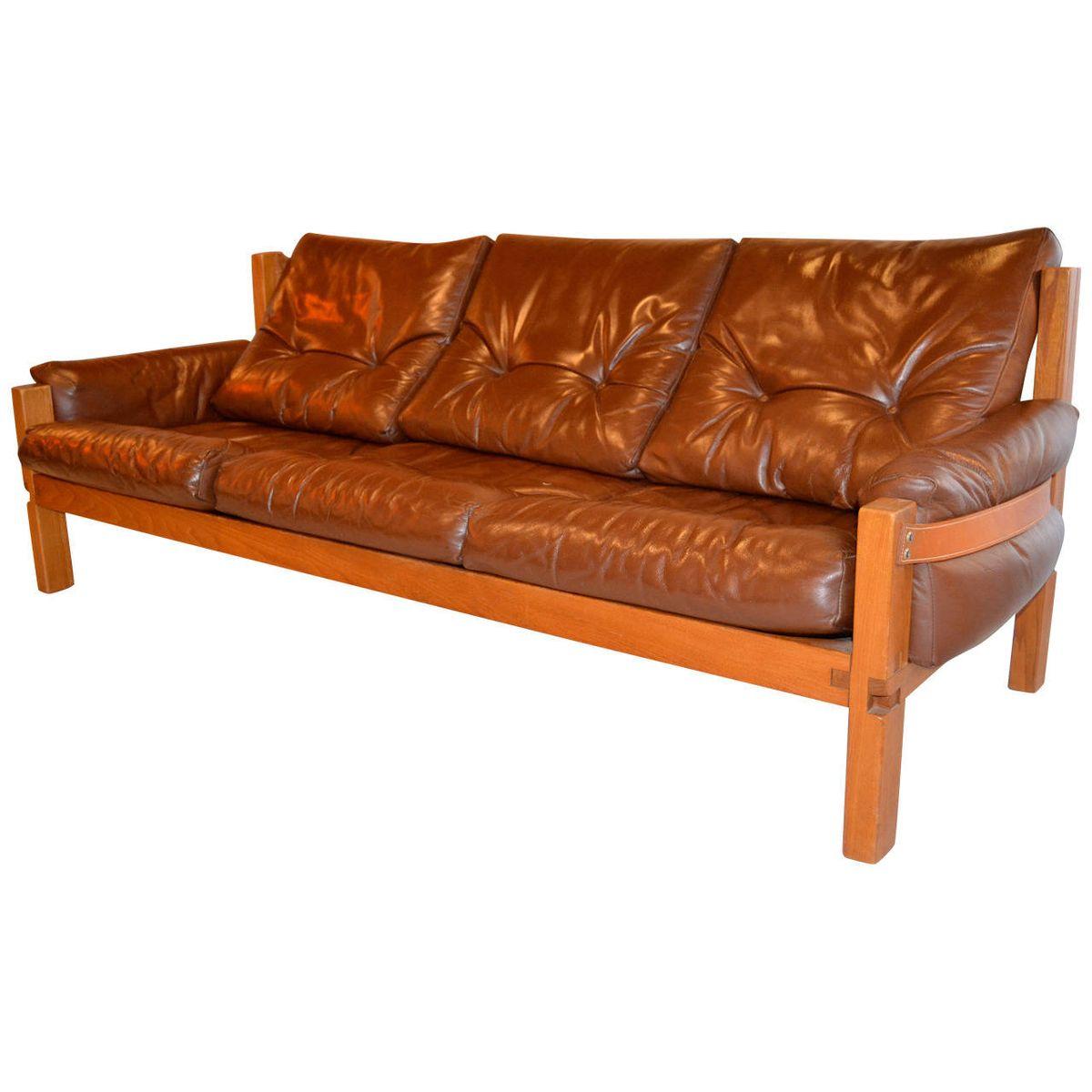 sofa von pierre chapo 1960er bei pamono kaufen. Black Bedroom Furniture Sets. Home Design Ideas