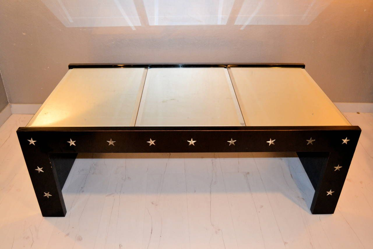 Vintage Mirrored Glass Coffee Table 1970s For Sale At Pamono