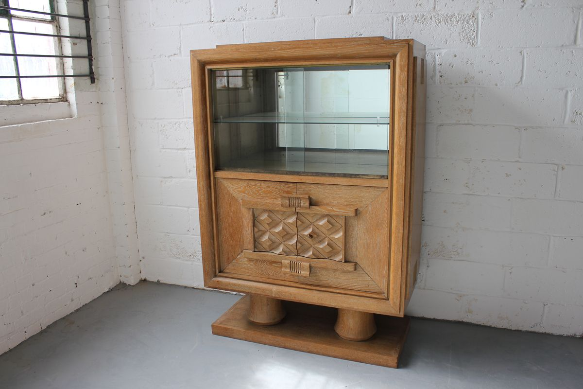 French oak cabinet by charles dudouyt 1940s for sale at for 1940s kitchen cabinets for sale