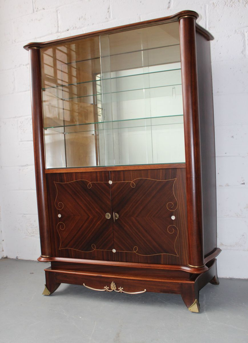 vintage palisander vitrine 1940er bei pamono kaufen. Black Bedroom Furniture Sets. Home Design Ideas