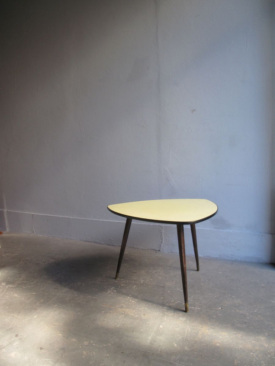 Soft Yellow Formica Top Coffee Table For Sale At Pamono